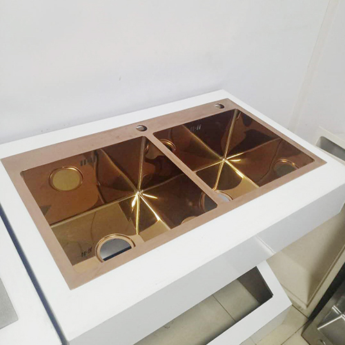 Chậu rửa bát Handmade Inox 304 mạ vàng Miken MKRB-7843GC