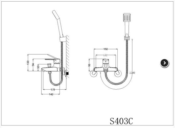 Vòi hoa sen tắm nóng lạnh Caesar S403C