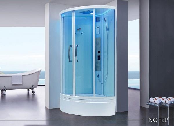 Cabin tắm vách kính đứng Nofer LV-1018A