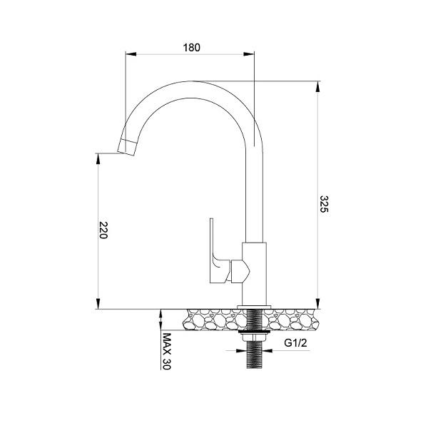 Vòi rửa bát Malloca K1603CL