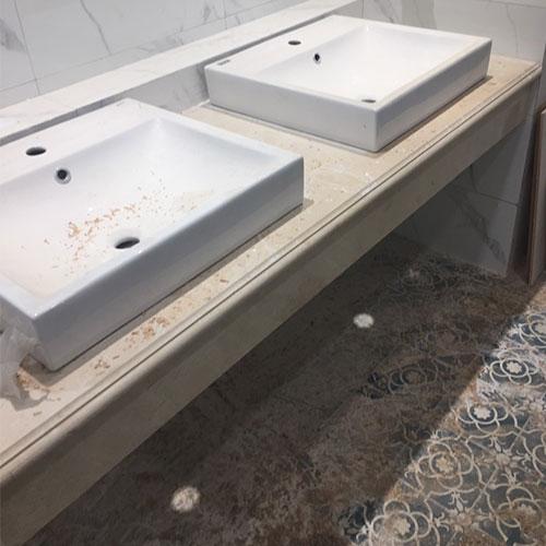 Mặt bàn đá chậu rửa lavabo HM-90110