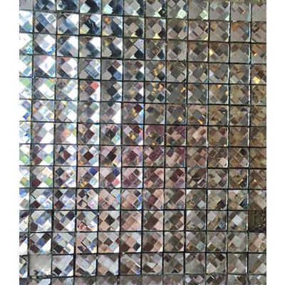Gạch ốp trang trí phòng karaoke Mosaic 13 Cạnh Trắng