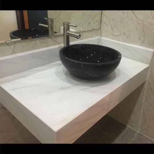 Mặt bàn đá chậu rửa lavabo HM-90115