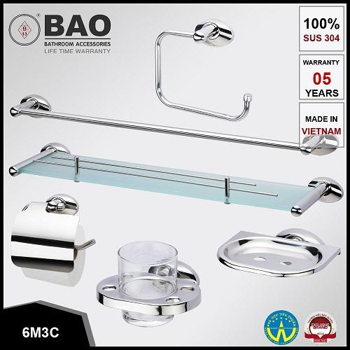 Bộ phụ kiện phòng tắm Bao 6M3C