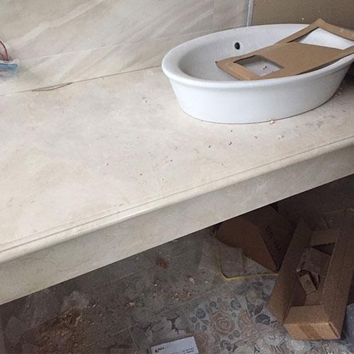 Mặt bàn đá chậu rửa lavabo HM-90118