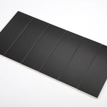 Gạch thẻ ốp tường màu đen bóng phẳng 100x300 M1307
