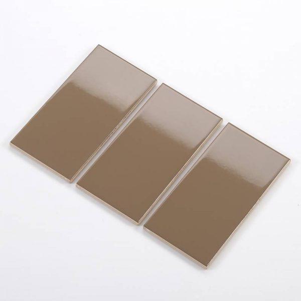 Gạch thẻ ốp tường màu nâu cà phê bóng 75x150 M751514