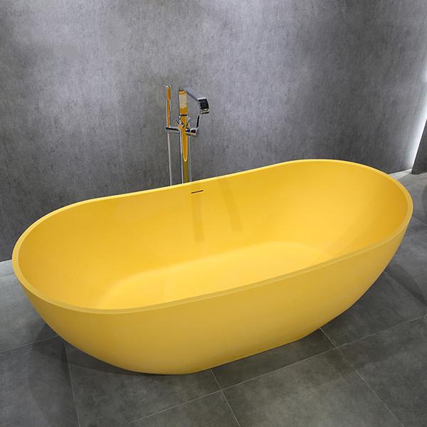 Bồn tắm màu vàng đá nhân tạo marble Miken MKB-8807Y