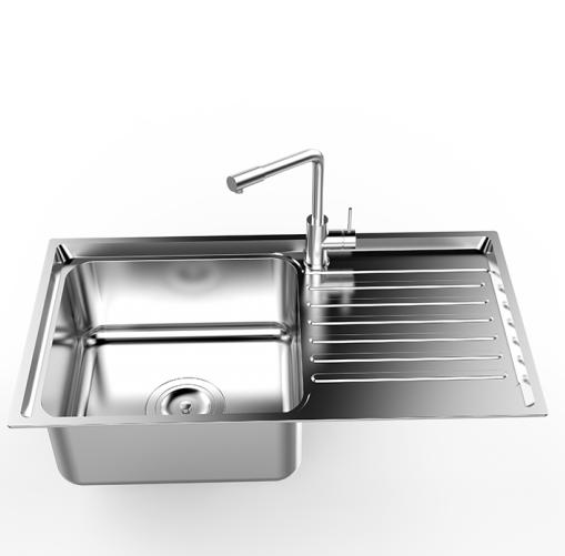 Chậu rửa bát Sơn Hà Premium S78D2.3