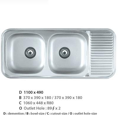 Chậu rửa bát CICO ISD-1100