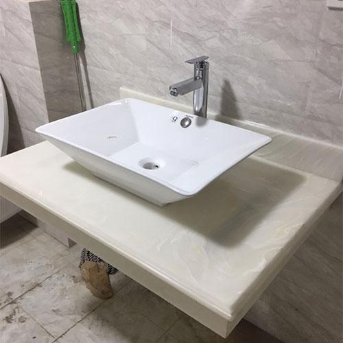 Mặt bàn đá chậu rửa lavabo HM-90121