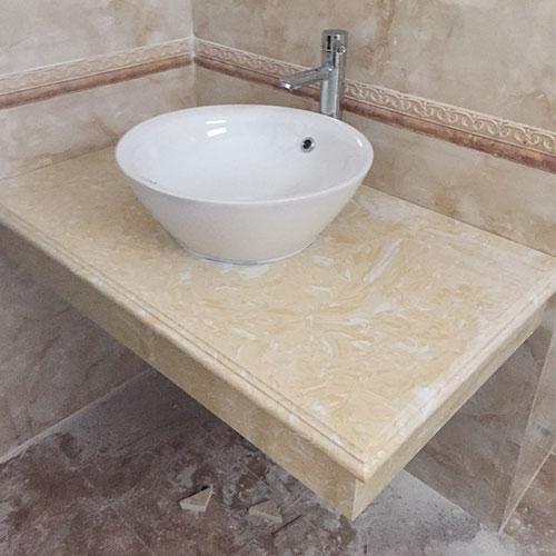 Mặt bàn đá chậu rửa lavabo HM-90112