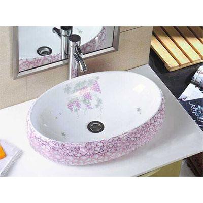 Chậu lavabo sứ nghệ thuật Gia Mỹ 803