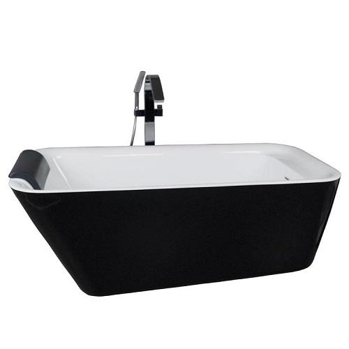 Bồn tắm đặt sàn màu đen nghệ thuật Miken 949B