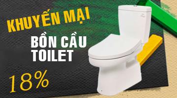 Khuyến mại bồn cầu toilet chính hãng