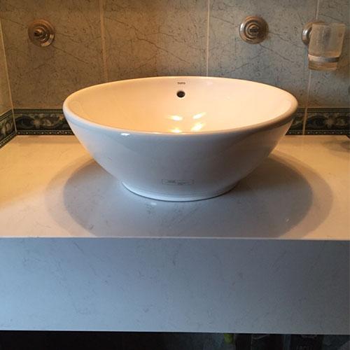 Mặt bàn đá chậu rửa lavabo HM-90122