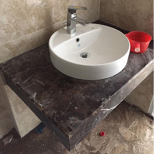 Mặt bàn đá chậu rửa lavabo HM-90131