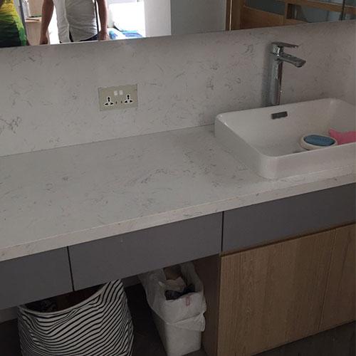 Mặt bàn đá chậu rửa lavabo HM-90135