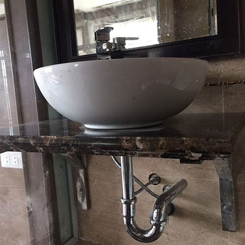 Mặt bàn đá chậu rửa lavabo HM-90136