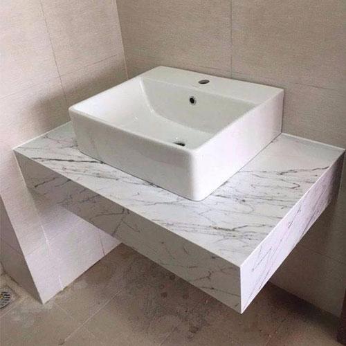 Mặt bàn đá chậu rửa lavabo HM-90137