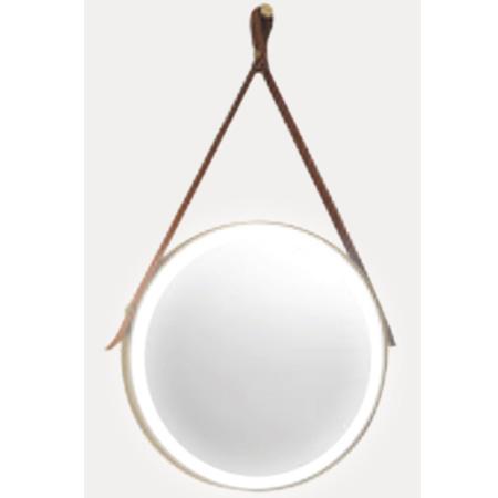 Gương phòng tắm dây da đèn led tròn Đình Quốc DQ 69018B