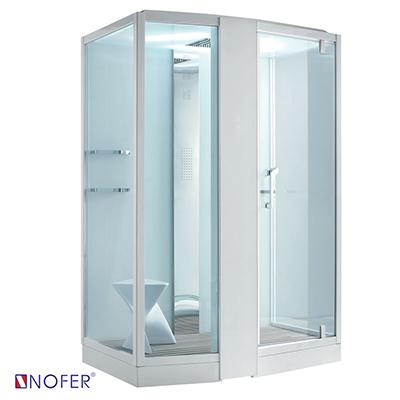 Phòng xông hơi ướt Nofer VS-89102S-L White