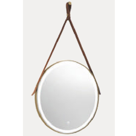 Gương phòng tắm dây da đèn led tròn Đình Quốc DQ 99903
