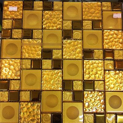 Gạch ốp trang trí phòng karaoke Mosaic BALU 4860