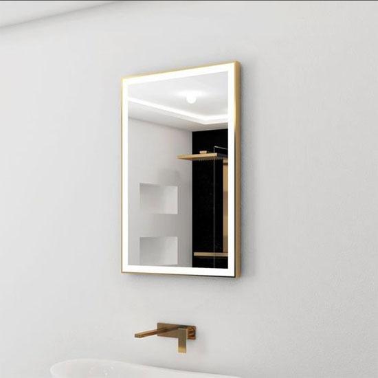Gương đèn led khung inox MIKEN MKG-V002