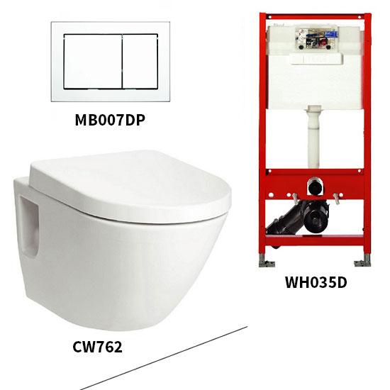 Bộ bồn cầu treo tường Toto CW762/WH035D/MB007DP