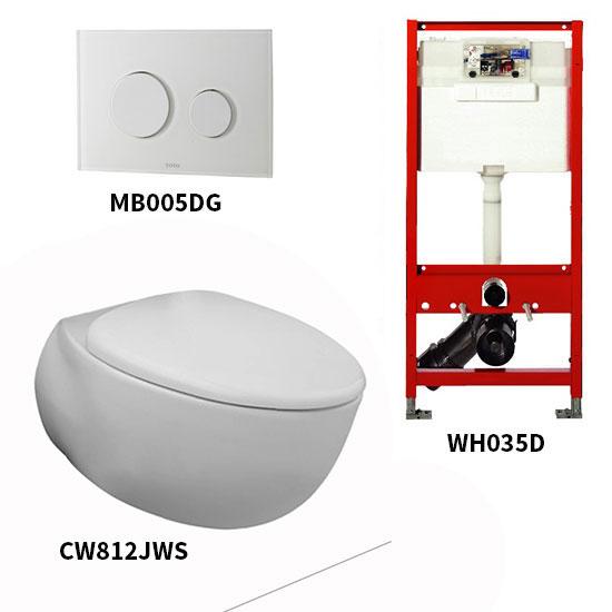 Bộ bồn cầu treo tường Toto CW812JWS/WH035D/MB005DG