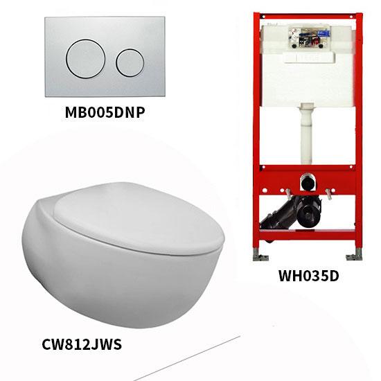 Bộ bồn cầu treo tường Toto CW812JWS/WH035D/MB005DNP