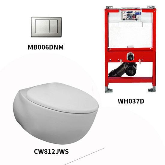 Bộ bồn cầu treo tường Toto CW812JWS/WH037D/MB006DNM