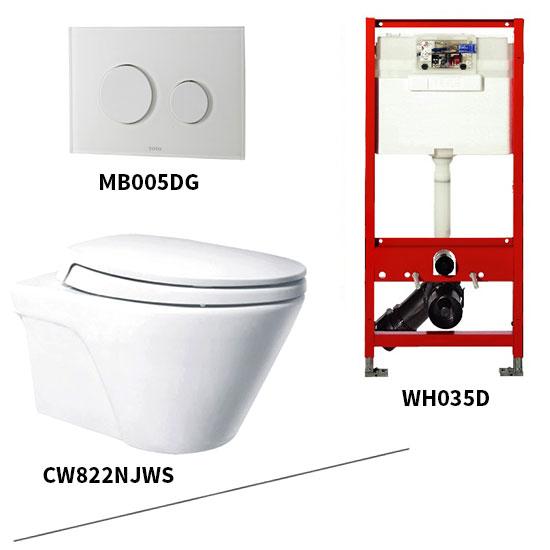 Bộ bồn cầu treo tường Toto CW822NJWS/WH035D/MB005DG