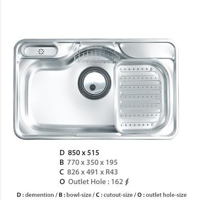 Chậu rửa bát Ecofa EJUS 850P