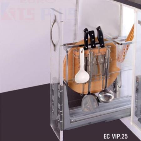 Giá dao thớt nan dẹt inox mờ Eurokit EC VIP.25