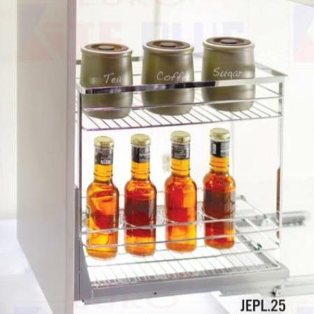 Giá đựng gia vị nan dẹt inox bóng Eurokit JEPL.25