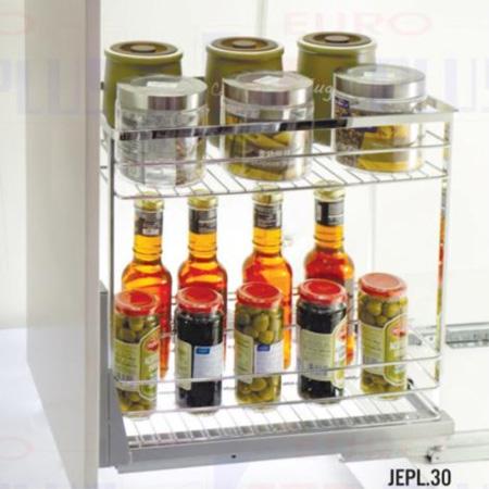 Giá đựng gia vị nan dẹt inox bóng Eurokit JEPL.30