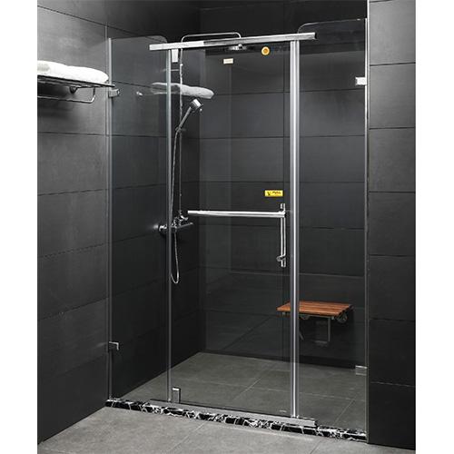 Vách kính tắm màu chrome Fendi FDP-1X3