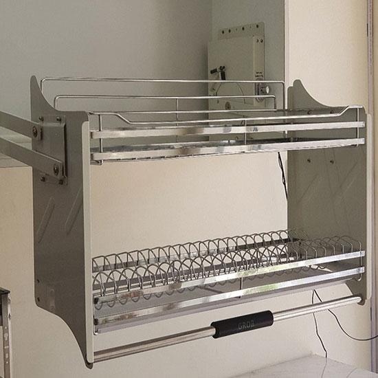 Kệ bát đĩa nâng hạ 2 tầng Grob GV304-160