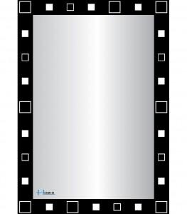 Gương phòng tắm Hobig tráng bạc HB2-738