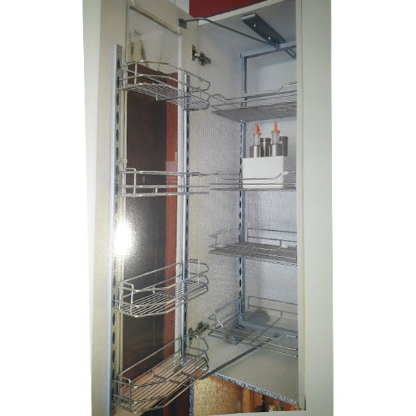 Tủ kho 4 tầng cảnh mở inox nan Eurokit HF 024Y