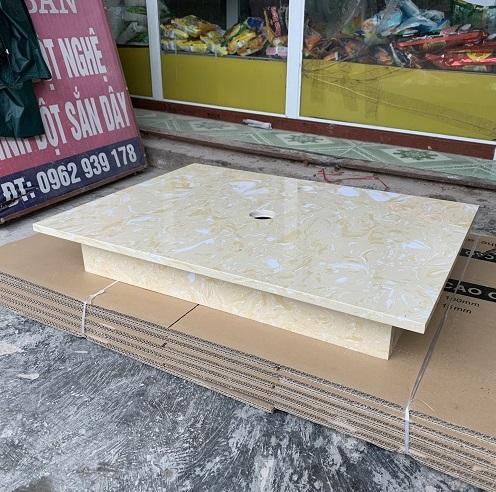 Mặt bàn đá chậu rửa lavabo HM-7050-6