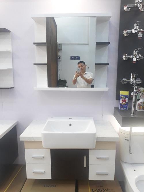 Bộ tủ chậu nhựa Picomat cao cấp theo yêu cầu HM78