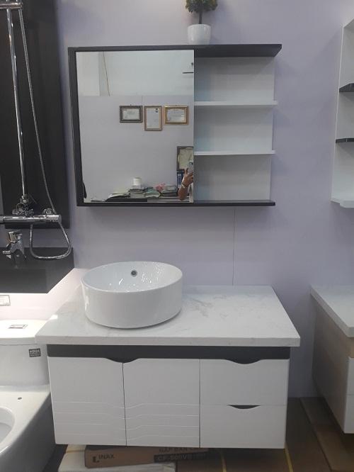 Bộ tủ chậu nhựa Picomat cao cấp theo yêu cầu HM80
