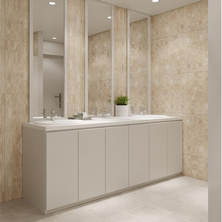 Tủ chậu lavabo may đo nhựa Picomat HMT-117