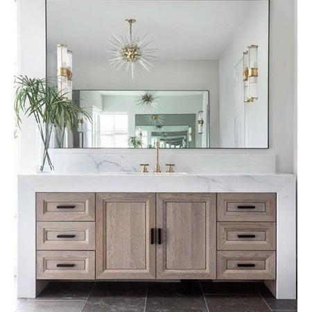 Tủ chậu lavabo may đo vân gỗ nhựa Picomat HMT-129