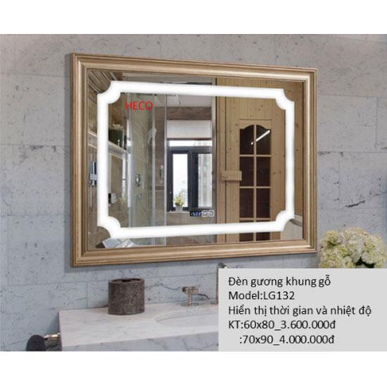 Gương đèn led khung gỗ Heco LG-132
