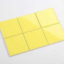 Gạch thẻ ốp tường vuông vàng bóng phẳng 100x100 M1105