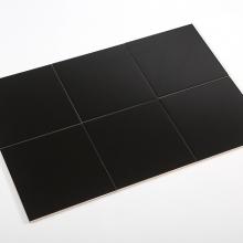 Gạch thẻ ốp tường vuông đen mờ phẳng 100x100 M1107Y
